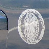 guadalupe car decal spanish