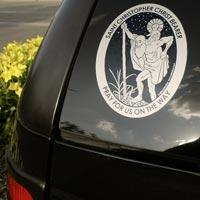 st christopher car decal