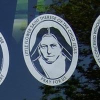 saint therese car decal