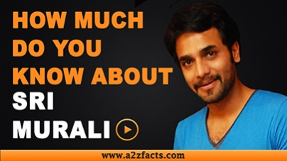 Srimurali – Age, Birthday, Biography, Wife, Net Worth and More