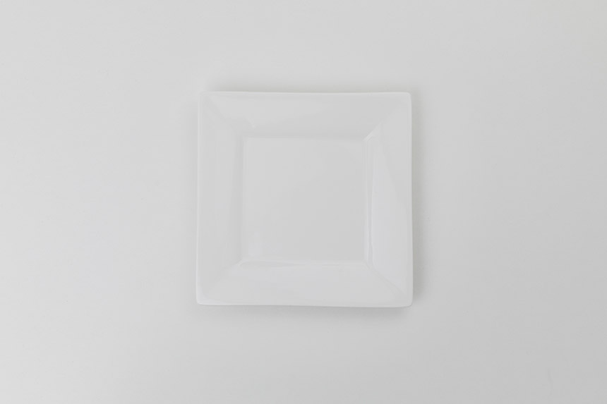 White Square Salad u0026 Dessert Plate & White Square Salad u0026 Dessert Plate | Well Dressed Tables