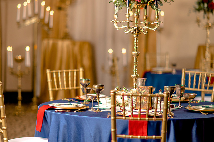 Lovely Beauty & the Beast Wedding Well Dressed Tables