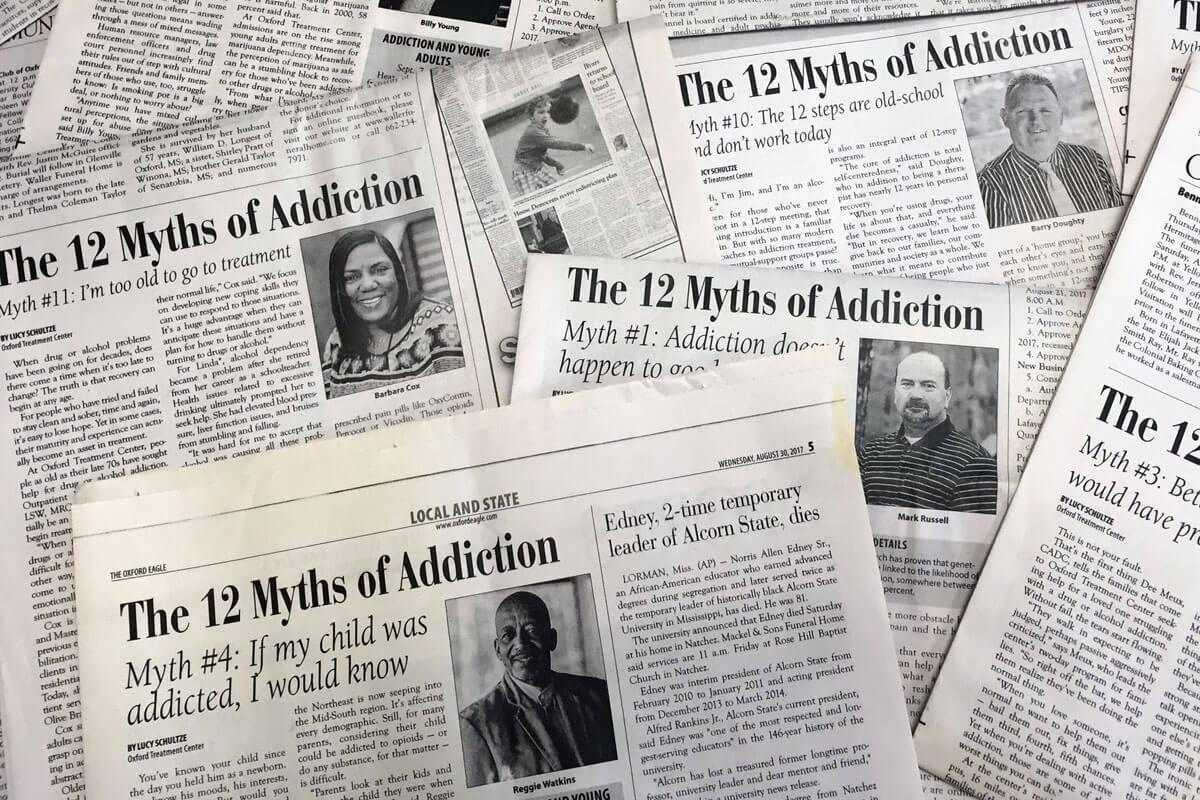 Oxford Treatment Center Shares 12 Myths Of Addiction