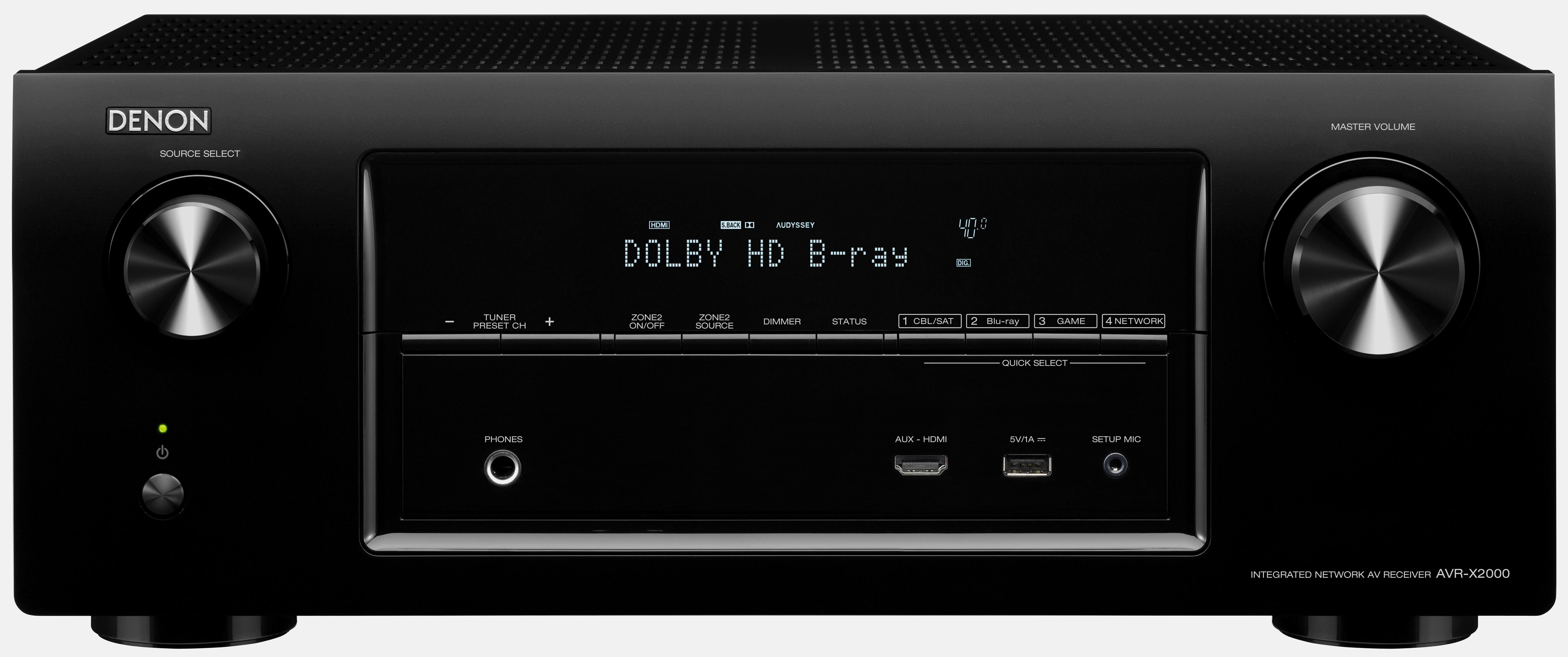 Denon AVR-X2000 7.1-Channel 4K Ultra HD AV Receiver