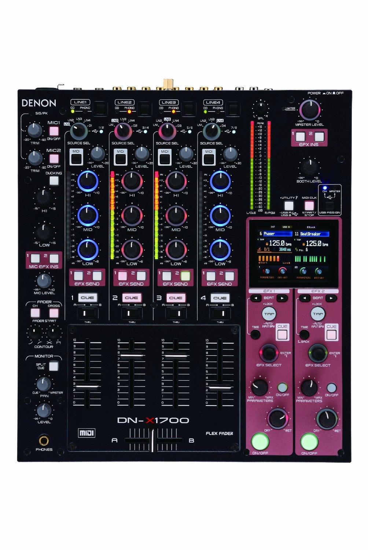 Denon DJ DN-X1700 Professional 4-Channel Digital DJ Mixer