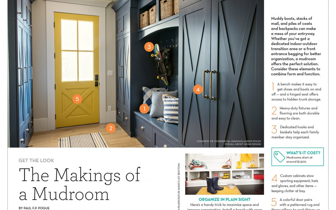 All About Home Design's Award-Winning Mudroom Featured in Angie's List Magazine