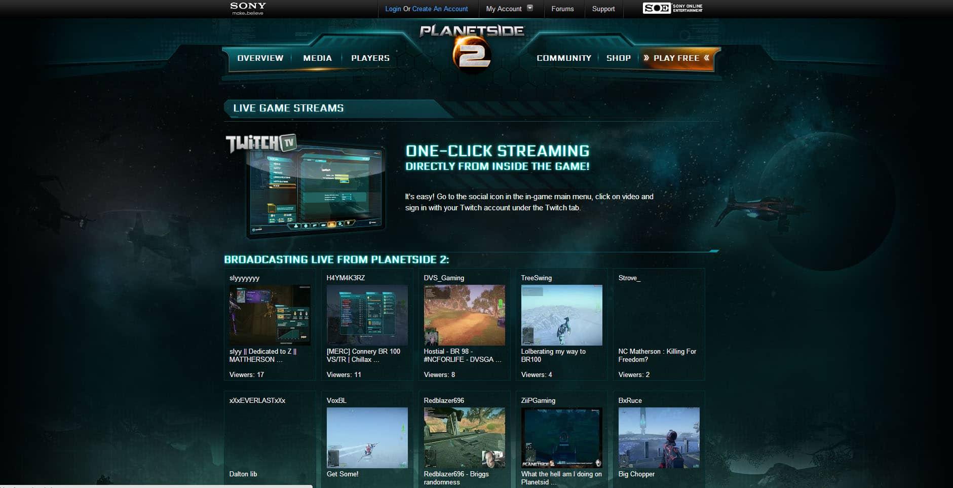 PlanetSide 2 - Aaron Bartholomew Development
