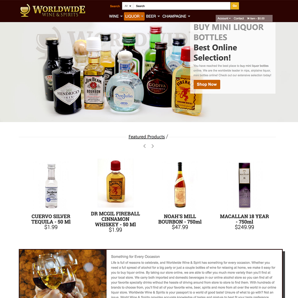 Worldwide Wine and Spirits - Aaron Bartholomew Development