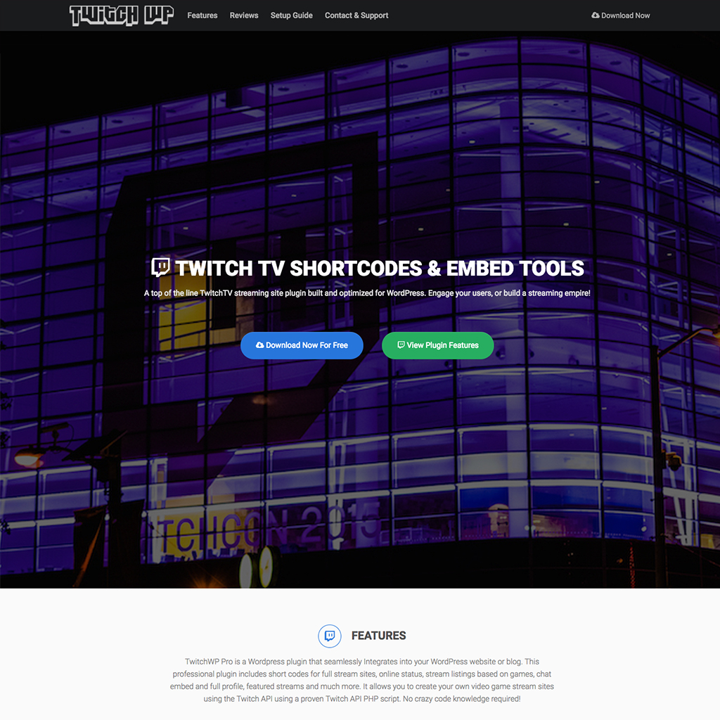 Twitch WP Plugin Website - Aaron Bartholomew Development