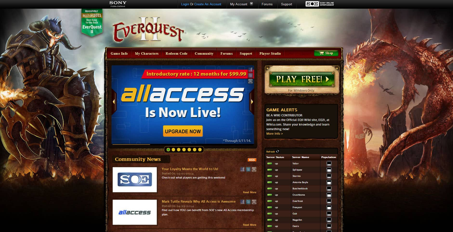 EverQuest II - Aaron Bartholomew Development
