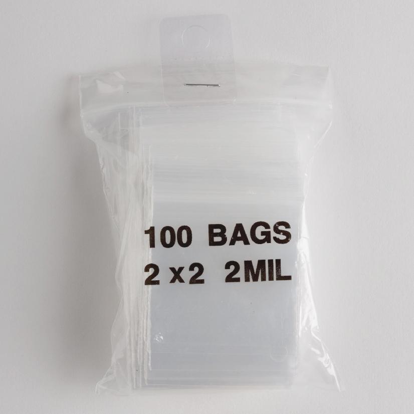 "1.5/"" x 2/"" Reclosable Plastic Poly bags Ziplock 2mil LDPE FOOD GRADE Qty 300"