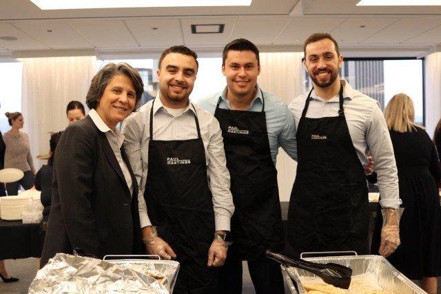 Diversity Luncheon serving food