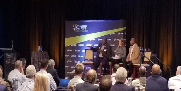 Speakers at Vectrus' Leadership conference600