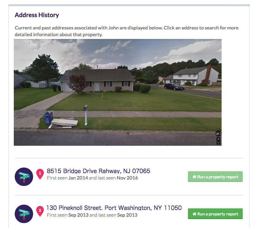 home address info and house image found on Been Verified