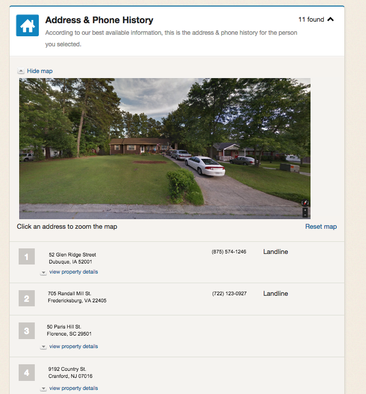 home address info and image of home found on Intelius