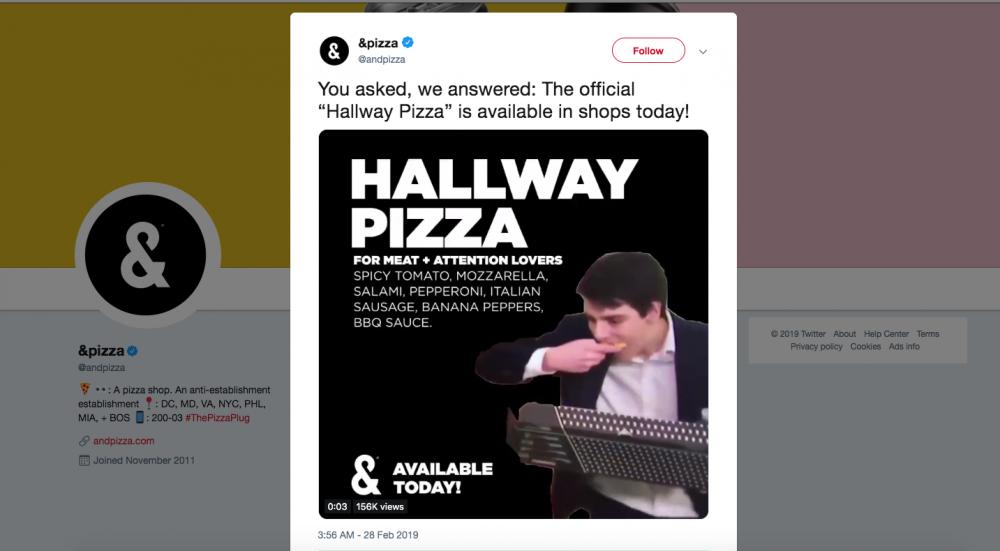 &pizza embraces a fun social personality