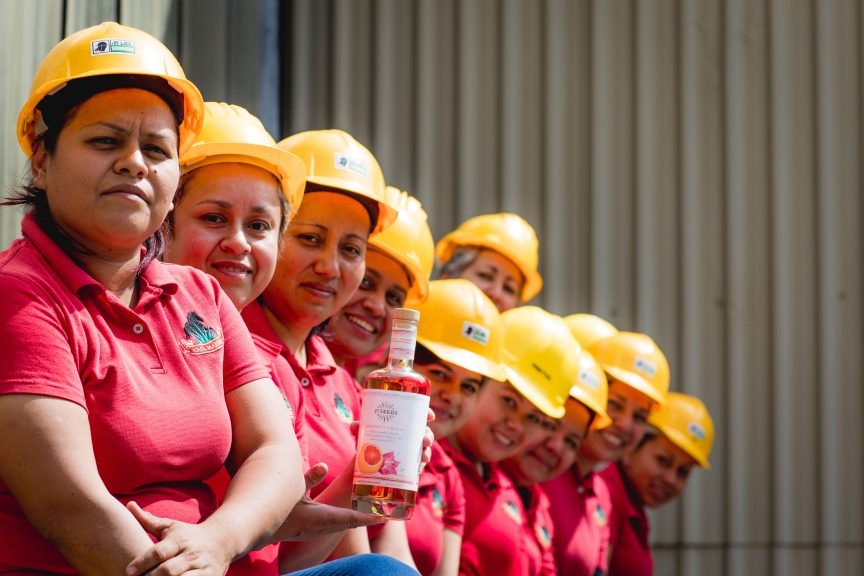 Group of female employees sitting together.