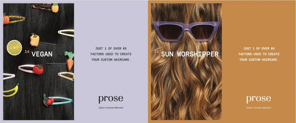 Side by side images of hair with barettes and sunglasses. Text on images.