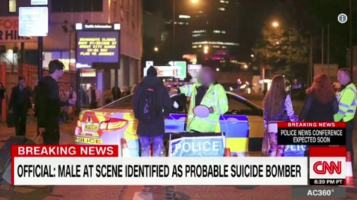 Suspected suicide bomber strikes uk arena after ariana grande broadcast and cable news networks have been in continuing coverage of an explosion in manchester england outside an arena where an ariana grande concert m4hsunfo