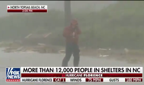 Hurricane Florence 2 p.m. Notes: 'Whoa, That Was a ...