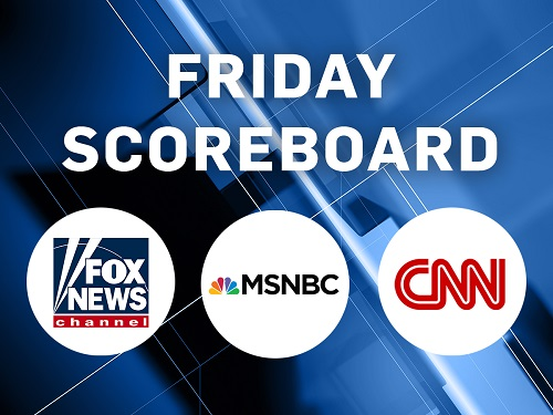 Wednesday, Nov. 25 Scoreboard: CNN No. 1 in A25-54 Demo, MSNBC No. 1 in Total Viewers