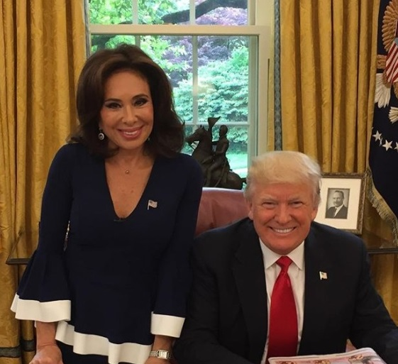 Image result for trump and jeanine pirro