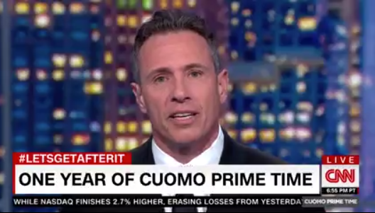Chris Cuomo Marks One Year Anniversary of Cuomo Prime Time