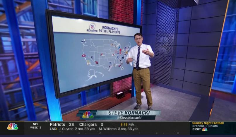 Election Sensation Steve Kornacki Crunches NFL Numbers on 'Sunday Night Football'