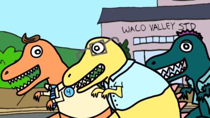 waco valley ben warheit cartoon dinosaur above average