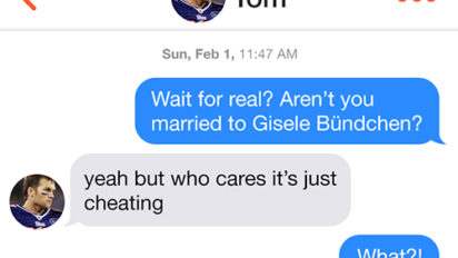 What Tinder Was Like at the Super Bowl