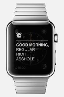 apple watch regular rich asshole