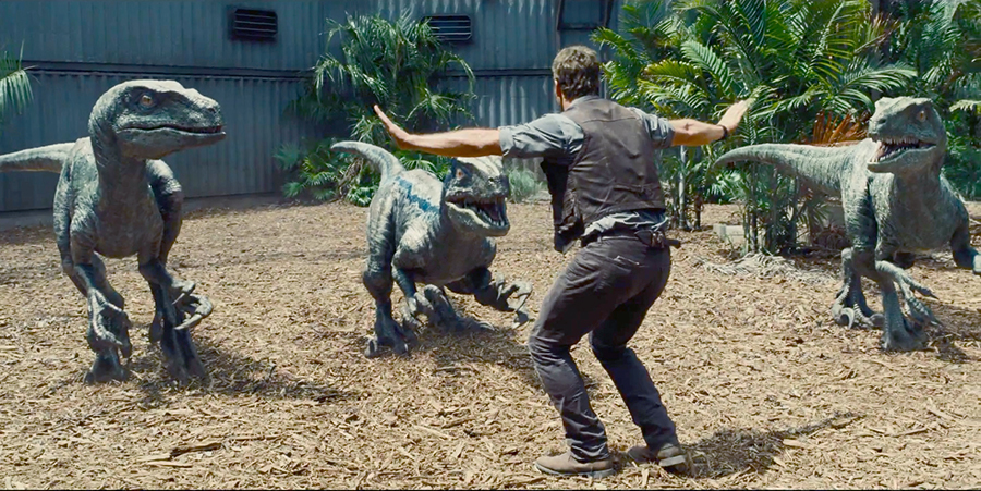 jurassic world hot raptors