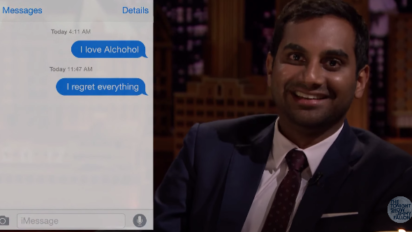 Aziz Anzari and Jimmy Fallon Read Embarrassing First Texts From Guys