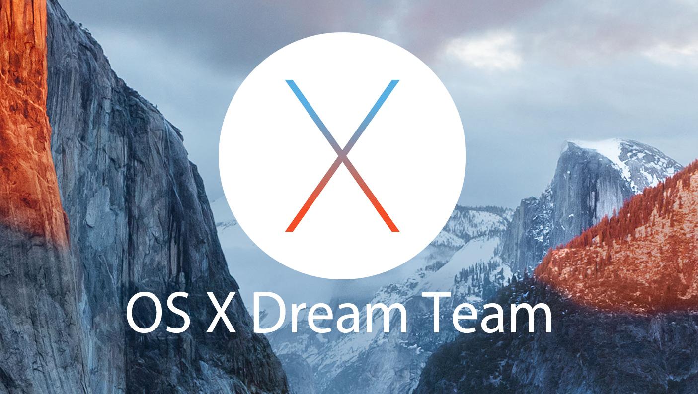 OS X Operating System Names - Dream Team