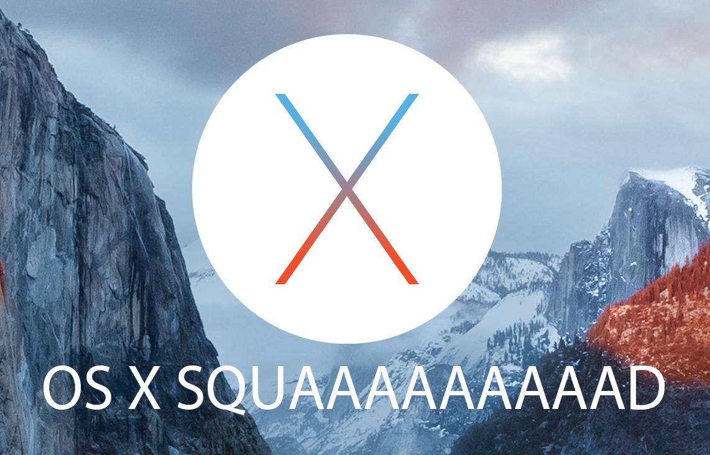 OS X SQUAAAAAAAAD