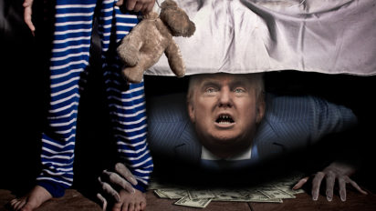 donald trump monster under bed