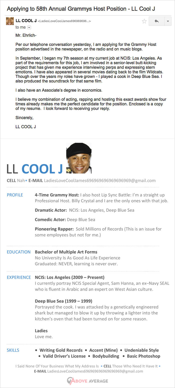 LL cool j Resume grammy
