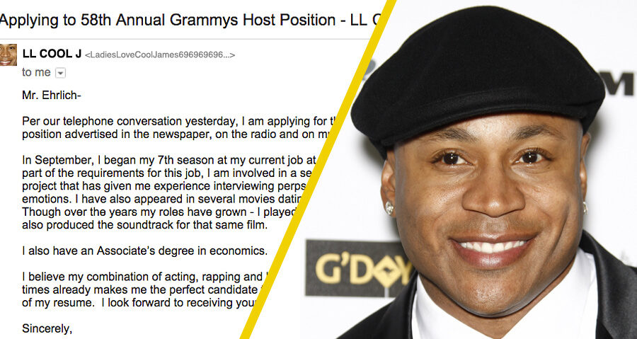 Check Out LL Cool J's Application To Host The 2016 Grammys