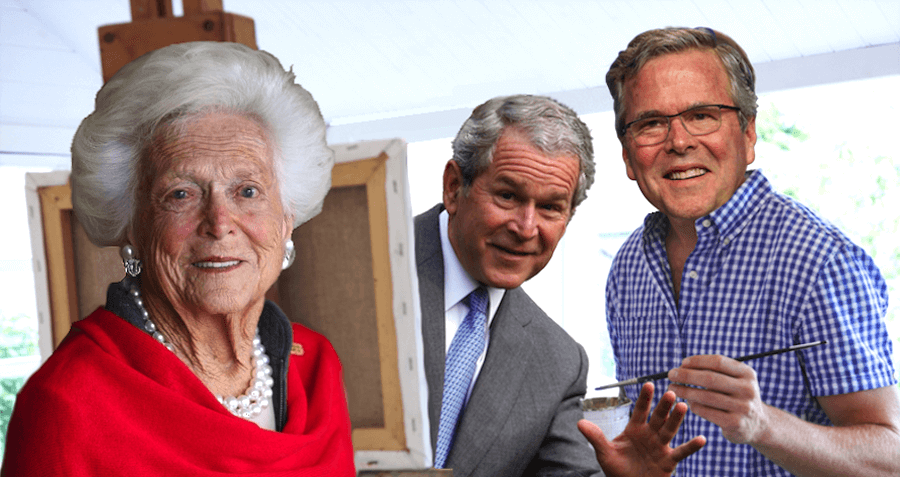 "Barbara Bush: ""It'll Be So Nice To Have A Second Son Who Paints"""