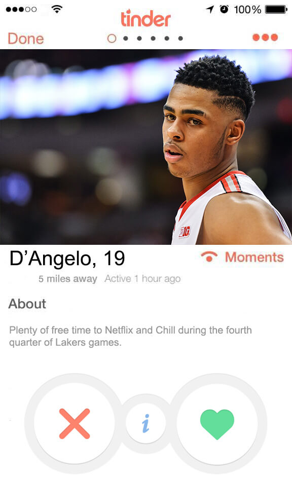 D'Angelo Russel Tinder