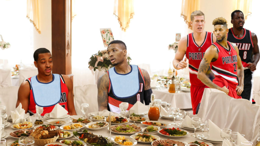 Coach Stotts Prohibits Blazers From Eating Dinner Until McCollum, Lillard Have Gotten Enough