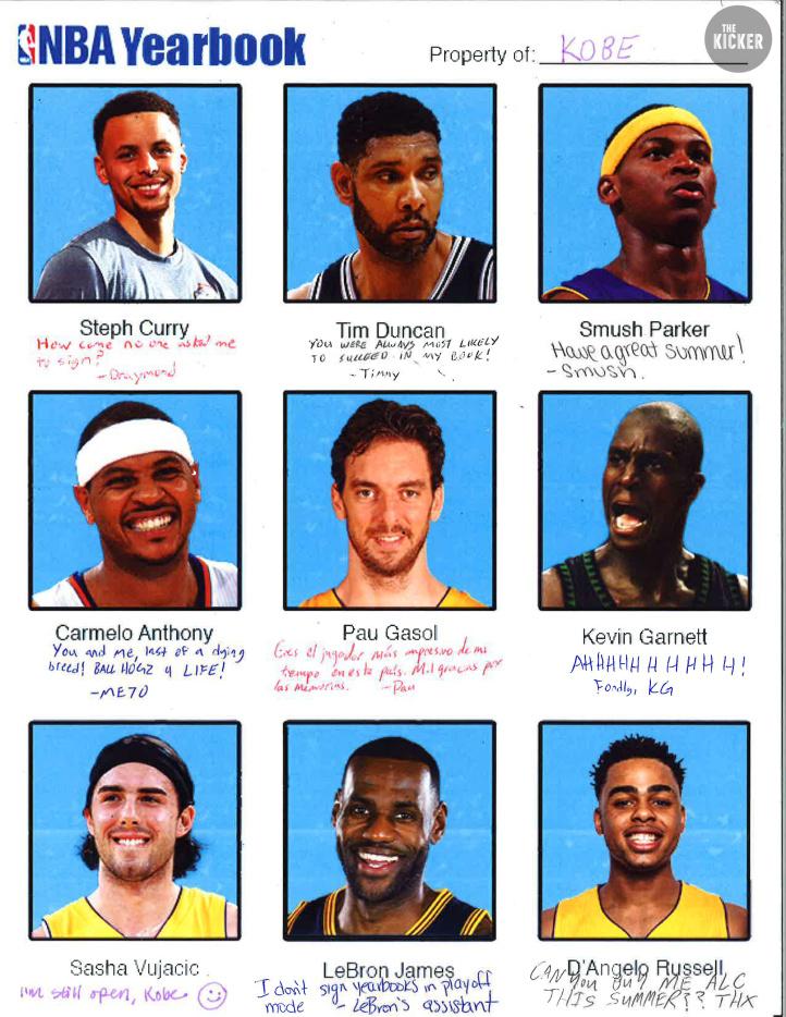 NBA Kobe Yearbook