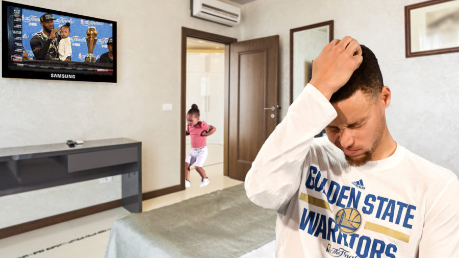 Riley Curry Sends Steph To His Room To Think About What He's Done