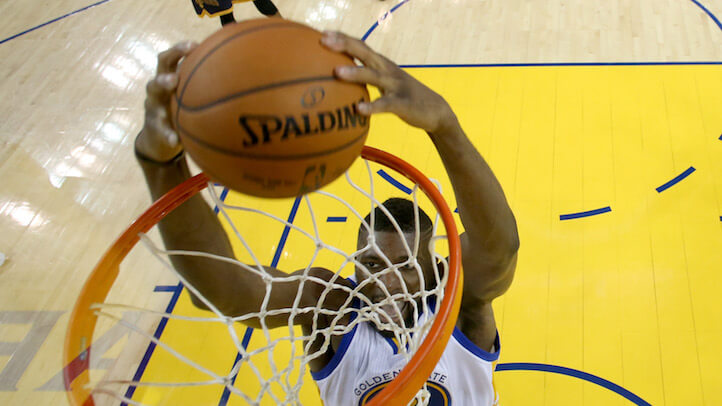 Festus Ezeli and the 7 other Warriors reserves reportedly earned millions of dollars in endorsements and speaking fees since Game 1. (Getty)