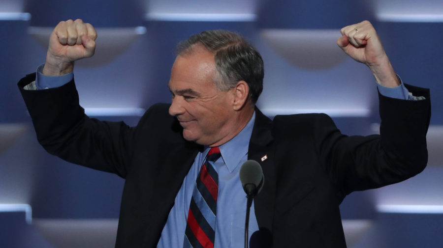 Tim Kaine Volunteers To Pop Every Balloon, Tidy Up