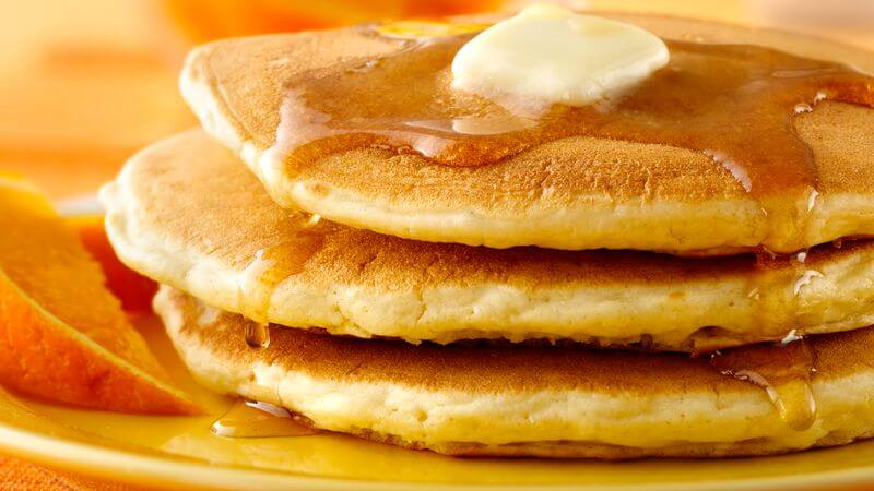 Stick it, Bisquick: nothing beats pancakes made from Gold Medal All‑Purpose Enriched Bleached Flour! (Disclaimer: General Mills owns both Bisquick and Gold Medal.)