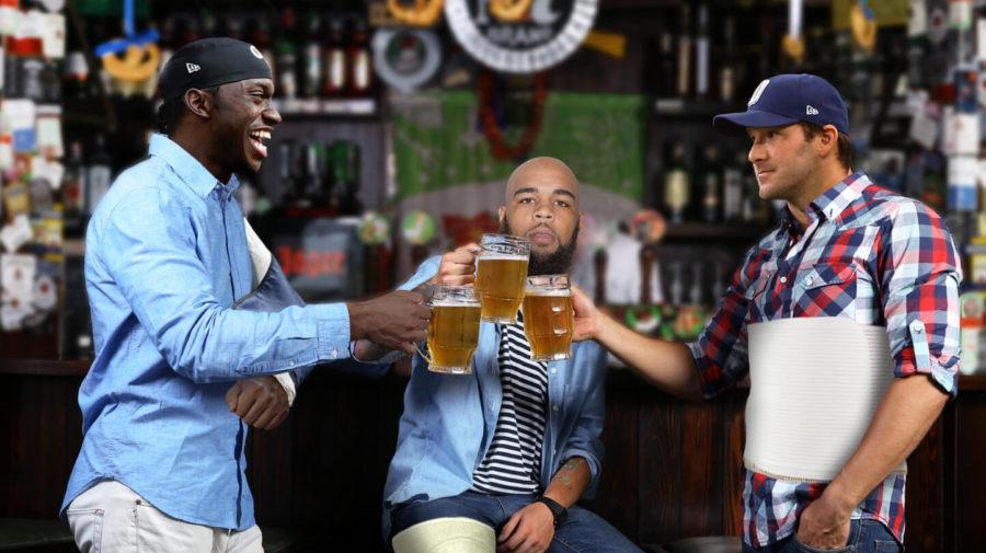 Romo, RG III, Keenan Allen Share Cocktails At Injured Reserve HQ