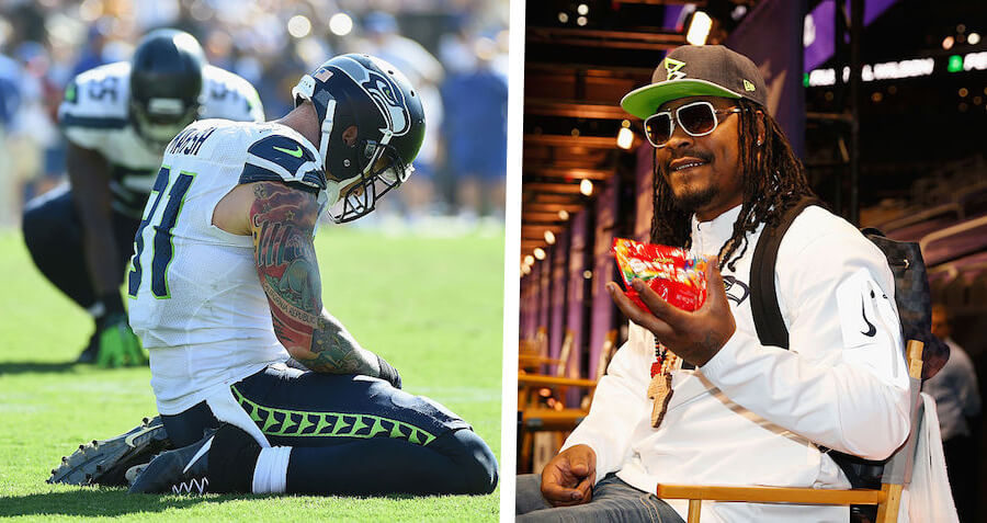 """Marshawn Lynch: """"Seattle's Offensive Struggles Prove That Skittles Work"""""""