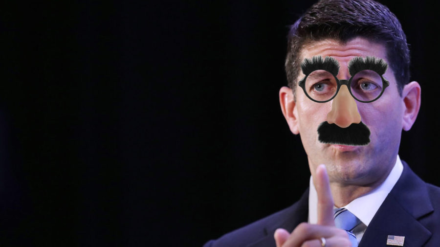 Paul Ryan Avoids Questions By Wearing Groucho Glasses In Public
