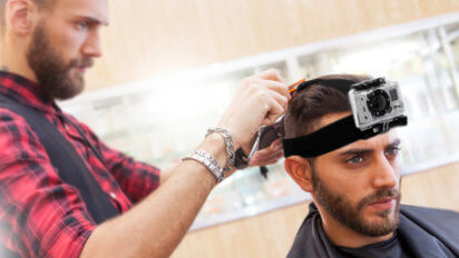 I Strapped A GoPro To My Head During A Haircut And It Got In The Way